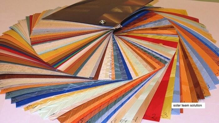 Materialul textil al Jaluzelelor Verticale